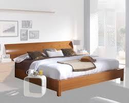 modern platform bed in light cherry finish made in spain 33b202