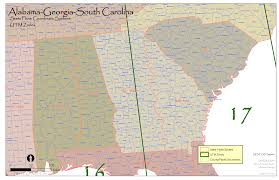 Alabama State Map Al Ga Sc State Plane And Utm U2014 Urban Forest Strike Teams