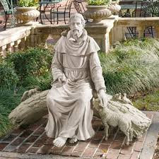 christian statues in nature s sanctuary st francis garden sculpture ky1390