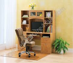 realspace landon desk with hutch realspace outlet landon desk with hutch 64 h x 55 1 2 w x 23 d oak