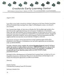 creekside early learning center is seeking donations for their
