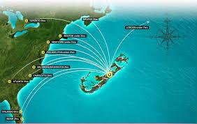 map usa bermuda bermuda and atlantic islands