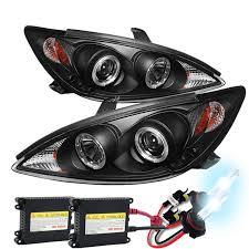 2004 toyota camry lights hid xenon 02 04 toyota camry angel eye halo projector headlights