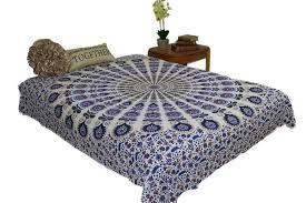 Tapestry Duvet King Hippie Mustard Blue Mandala Tapestry Bohemia Wall Hanging