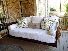 furniture using comfy porch swing cushions for cozy outdoor