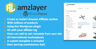 amzlayer wp plugin create an amazon affiliate section on your