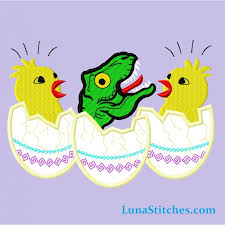 dinosaur easter eggs t rex dinosaur and baby chicken eggs