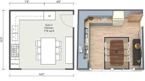 roomsketcher kitchen ideas eat in kitchen layout 2d 3d floor plans