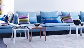 canapé bleu ciel deco salon avec canape bleu chaios com