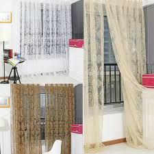 noble window screens tulle bronzing flower door curtain 11street