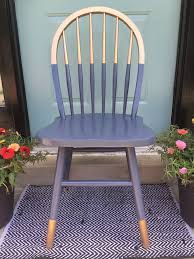 gilded gold painted navy blue chair a little bit gold dipped