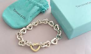 link bracelet with heart images Tiffany co collection on ebay jpg