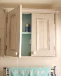 Handmade Bathroom Cabinets - bathroom cabinet with 2 doors painted with autentico white chalk