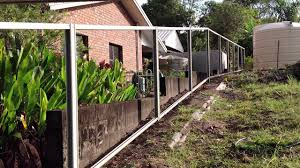 before fencing on a slope heal steel fencing bluescope steel