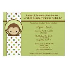 mod baby shower custom mod monkey invites templates babyfavors4u