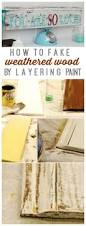 how to weather wood by layering paint