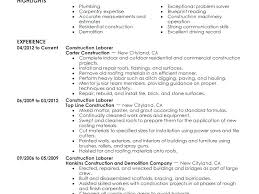 construction worker resume resume construction worker resume skills laborer