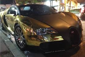 car bugatti gold flo rida u0027s bugatti caught chillin u0027 at miami heat party