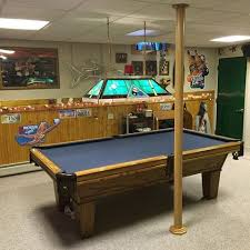 basement wrap basement poles often conflict with pool table space pole wrap is