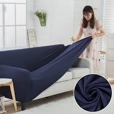 couvre canapé angle bleu é housse de canapé tricoté épaissir housse canapé d angle