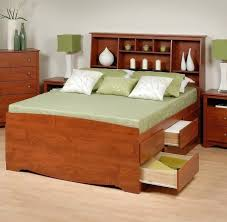 full size bed frame with headboard and trundle u2014 modern storage