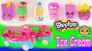 glitter truck shopkins season 3 glitzi scoops ice cream truck playset food fair