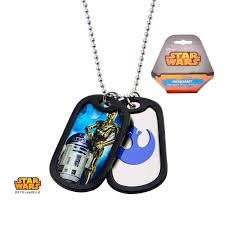 pendant necklace chain length images R2d2 c3po with rubber silencer double dog tag pendant jpg