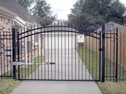 houston driveway gates metal wood chain gate