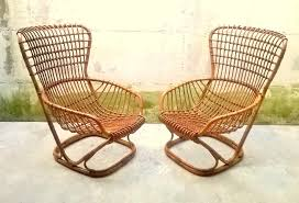 Antique Accent Chair Armchair Woven Dining Chair Indoor Wicker Chairs Accent