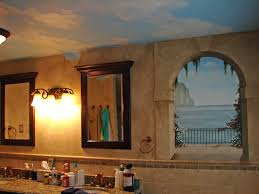 faux painting ideas for bathroom interior endearing bathroom decoration with faux painting wall in