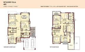 Villa Floor Plan by Floor Plans Villa Lantana Al Basha South