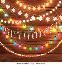 set glowing lights stock vector 235334710