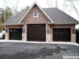 garage exterior design ideas home decor gallery garage exterior design ideas three dark brown coloring of garage doors with brick wall exterior