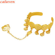 free size bracelet images Baby coin bracelet with free size ring gold color arab coin bangle jpg