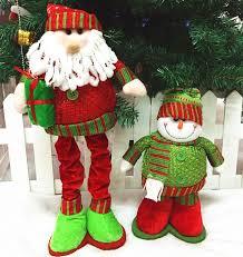 retractable snowman dolls creative santa claus doll