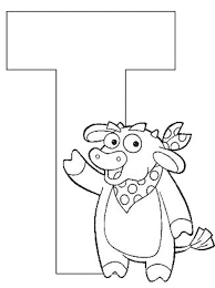 letter t dora the explorer alphabet coloring page alphabet