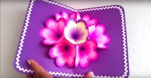 blooms flowers diy win card the blooms flowers when you open card