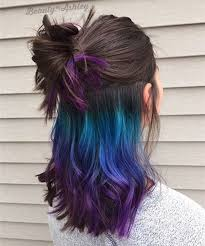 what color matches with pink and blue colorful hairstyles vpfashion