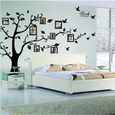 online get cheap wall decals tree aliexpress com alibaba group nordic large 200 250cm 79 99in black 3d diy photo tree pvc wall decals adhesive family wall stickers mural art home decor