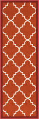 dallas moroccan trellis red and white modern geometric lattice mat