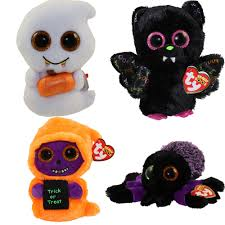 ty beanie boos set of 4 halloween 2017 releases glitter eyes