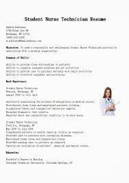 resumes for nurses examples sample resume nursing student resume samples student nurse technician resume sample