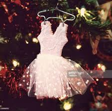 pink ballerina decorated tutu dress ornament on tree