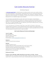easy to read resume format inbound call center resume format resume sle for call center