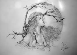 drawn broken heart creative love pencil and in color drawn