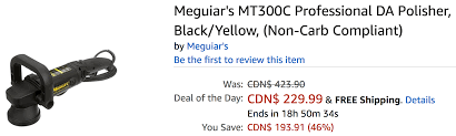 amazon canada black friday amazon canada deals of the day save 46 on meguiar u0027s mt300c