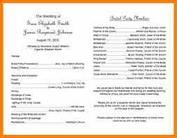 Examples Of Wedding Programs Templates 5 Examples Of Wedding Programs Resume Reference