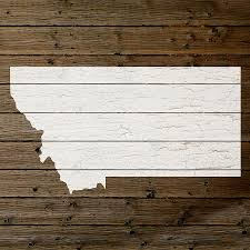 Map Of Montana State by Map Of Montana State Outline White Distressed Paint On Reclaimed