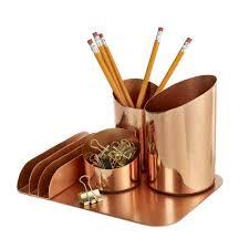 design ideas desk organiser in copper home office