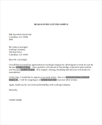 letter of resignation template 16 free word pdf document